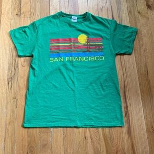 Men's sanfran retro graphic tee medium